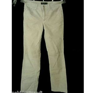 NINE WEST Corduroy Pants 8 Gray Straight leg slack